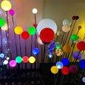 LED Bauchige reed lampe Durchmesser 8cm Leuchtende kugel lampe Weihnachten Dekoration Lichter Landschaft garten Outdoor IP65 Rasen Spike Lampen-in Outdoor-Landschaftsbeleuchtung aus Licht & Beleuchtung bei