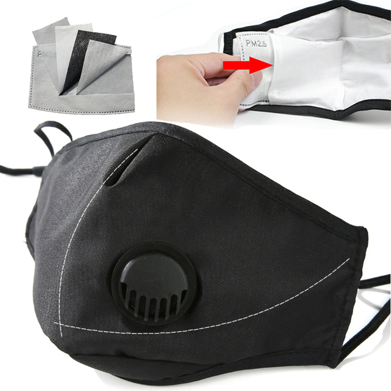 Anti Pollution PM2.5 Face Mask Dust Respirator Washable Reusable Masks Cotton Unisex Mouth Muffle Mascara