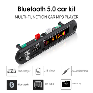 Image 1 - MP3 Module Bluetooth 5.0 Receiver Car Kit MP3 Player Decoder Board Color Screen FM Radio TF USB 3.5 Mm AUX Audio For Iphone XS