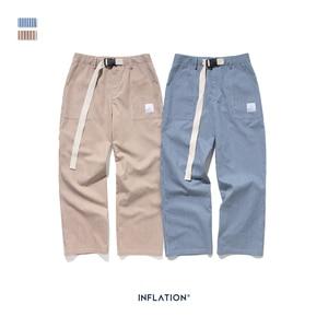 Image 5 - Inflatie 2020 Mannen Casual Broek Winter Streetwear Oude Mode Streep Broek Straight Elastische Taille Toevallige Streep Mannen Broek 93421W