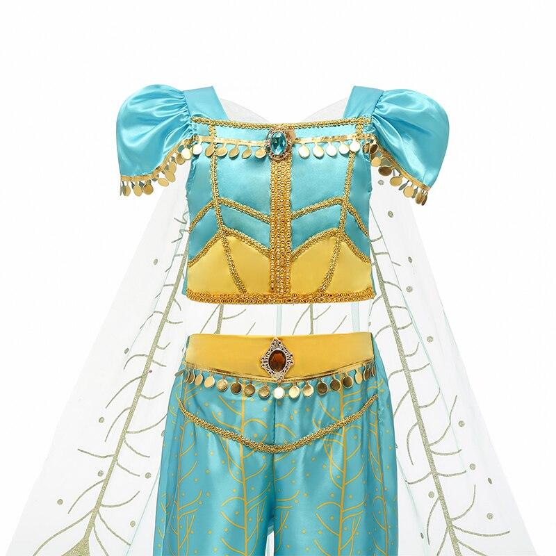 H64e47cc843384748b556b18d96f0b324l Aladdin Fairy Princess Costume Rapunzel Princess Dress Halloween Carnival Aurora Cosplay Dress up Kids Baby Anna Elsa Dresses