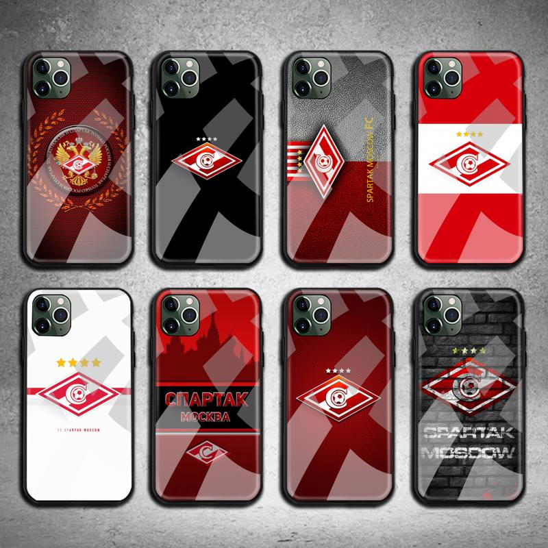 Russian Spartak moscow football Phone Case Tempered Glass For iPhone 11 Pro XR XS MAX 8 X 7 6S 6 Plus SE 2020 case
