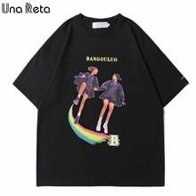 2021 novo hip hop manga curta t camisas harajuku roupas masculinas adorável impressão camisetas de grandes dimensões