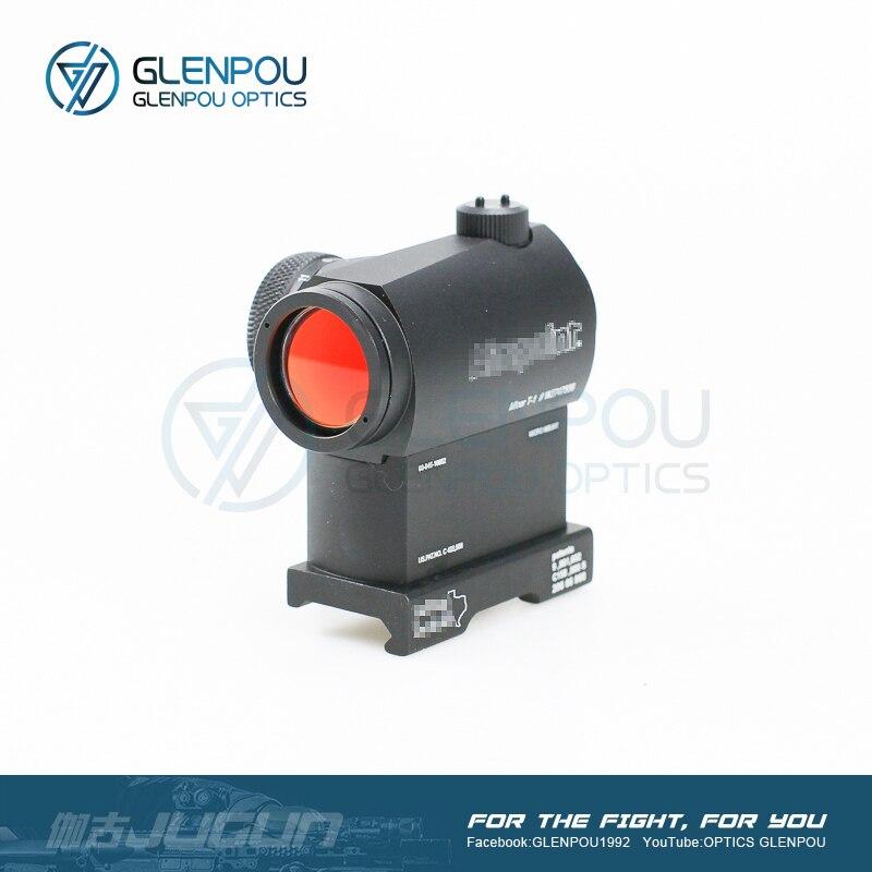 GLENPOU Aimpoint Tattico di Vista del Puntino 1X24 T1 balsaming lente Rifescope Sight Illuminato Sniper Rosso di Vista del Puntino Con Sgancio Rapido