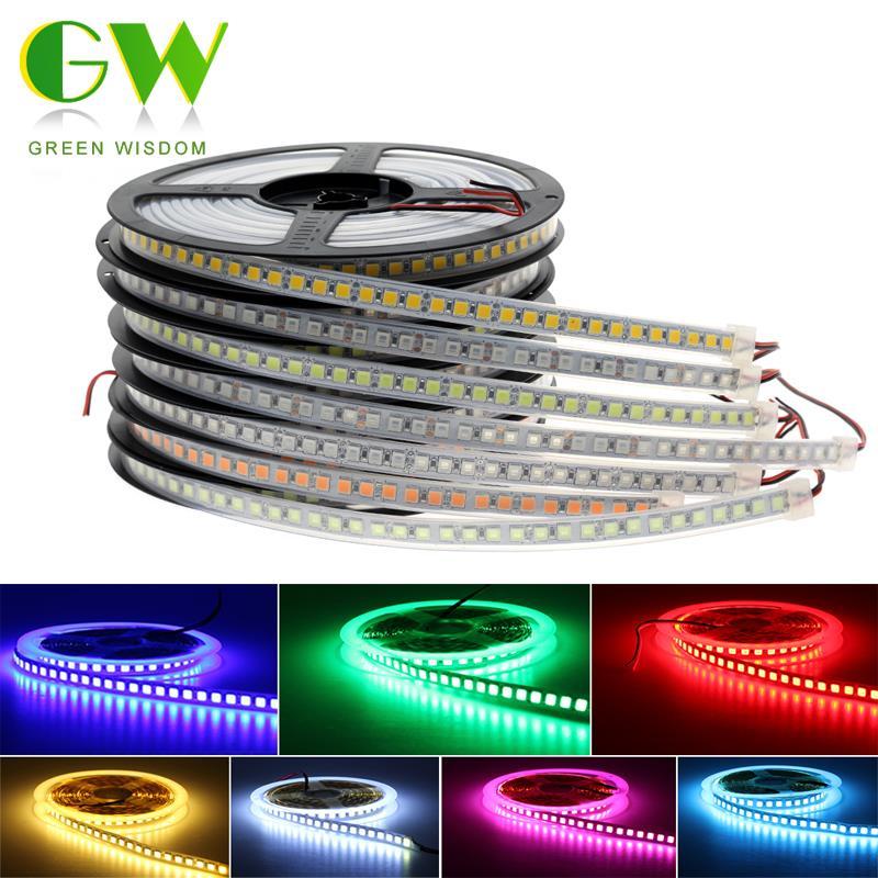 5M LED Strip Light SMD 5054 5050 RGB 12V LED Ribbon 120LEDs/m High Brightness Flexible Waterproof Diode Tape For Home Decoration