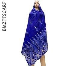 Alta qualidade chiffon cachecol mulim feminino bordado chiffon splice tule material tamanho grande cachecol para xales bm742