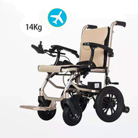 Motorized Wheelchair Electric Wheelchair Folding Portable Elderly Disabled Walkers Get On The Plane Lithium Battery Wheelchair