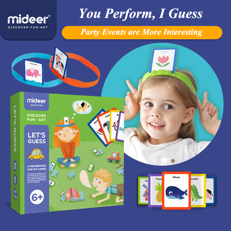 MiDeer Puzzle Table Games 3-6Years You Draw Me To Guess Toys Parent-child Interactive Early Childhood Games Toy Jigsaw Puzzle
