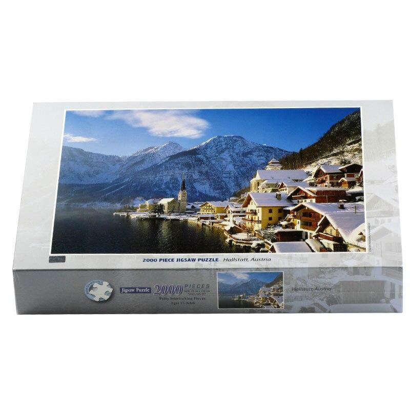 2000 pièces adulte puzzle autrichien Harsch lac puzzle maison peinture puzzle décompression jouet cadeau - 3