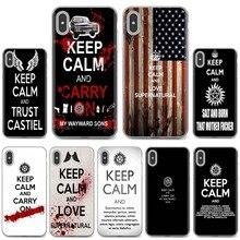 Capa macia para iphone ipod touch 11 12 pro 4 4S 5 5S se 5c 6s 7 8 x xr xs plus max 2020 manter calma amor sobrenatural exorcismo