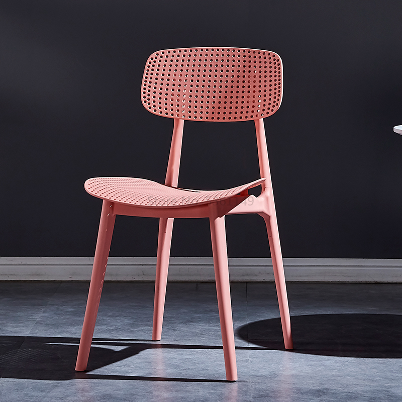 Backrest Stool Net Red Chair Nordic Plastic Creative Dining Chair Modern Minimalist Household Ins Wind