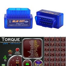 2019 סופר מיני ELM327 Bluetooth V2.1 OBD2 רכב אבחון כלי ELM 327 Bluetooth עבור אנדרואיד/סימביאן OBDII פרוטוקול