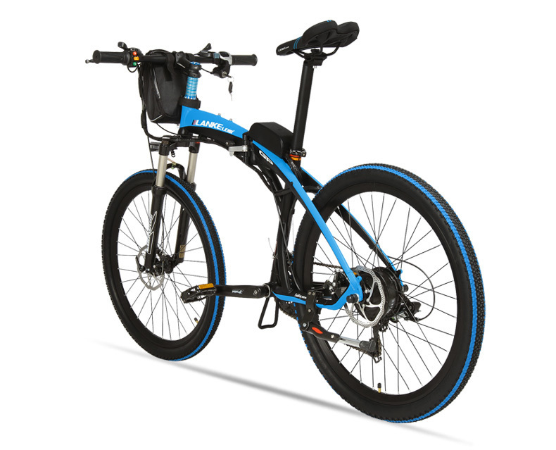 Lankeleisi 189.47 electric bicycle, folding bicycle, 26 inches, 36/48 V, 240 W, disk brake, fast folding, mountain 26