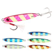 Fishing jigging lure metal jig slow 40g/70mm casting Artificial Bait lead bass micro fishing