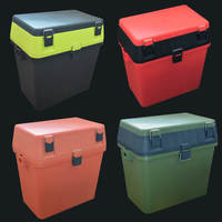 Multi Funtional Fishing Tackle Box Stool Fishing tool bait line hook fish storage Box 33x20x37cm Saltwater Freshwater