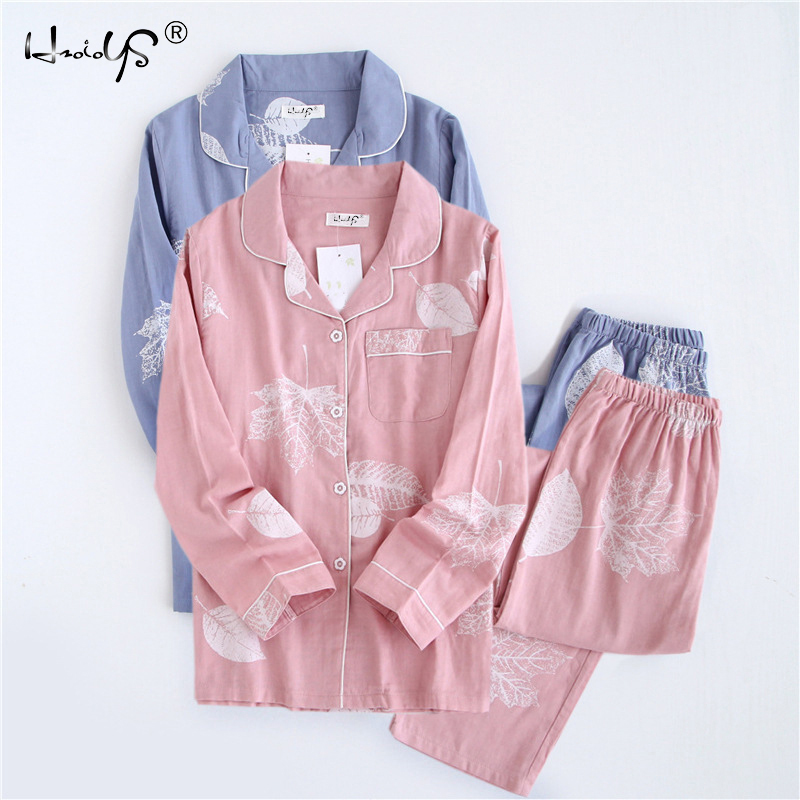 New Cartoon Sleepwear Heart Stripe Print Pajamas Sets Women Harajuku pajamas Men Women long sleeve shirt nighty Nightwear Set 205