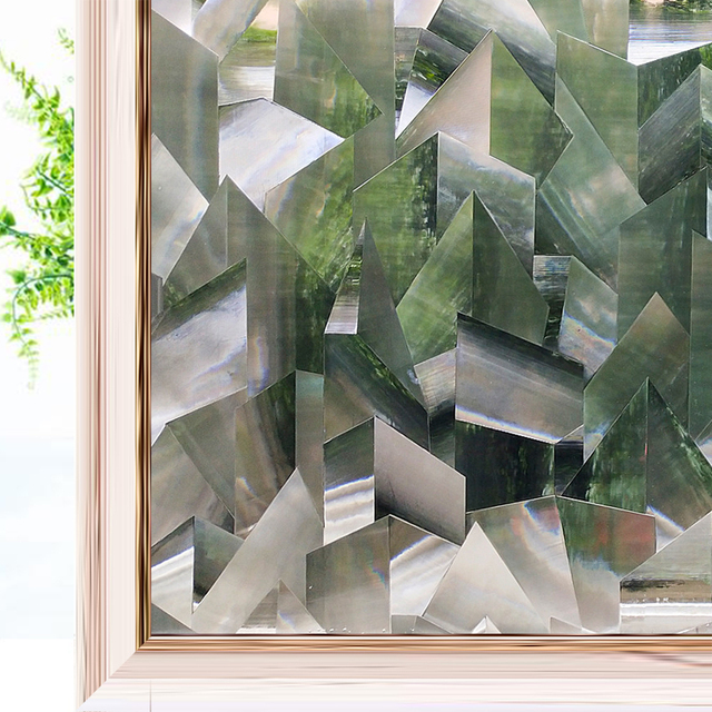 Crystal 3D Privacy Window Film Refraction Glass Film Static Cling Anti-UV Window Sticker Self-Adhesive Vinyl Window Covering 1