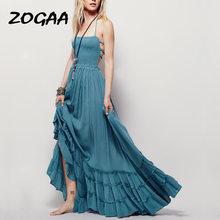 Zogaa богемное пляжное платье Лето 2020 Новое поступление без