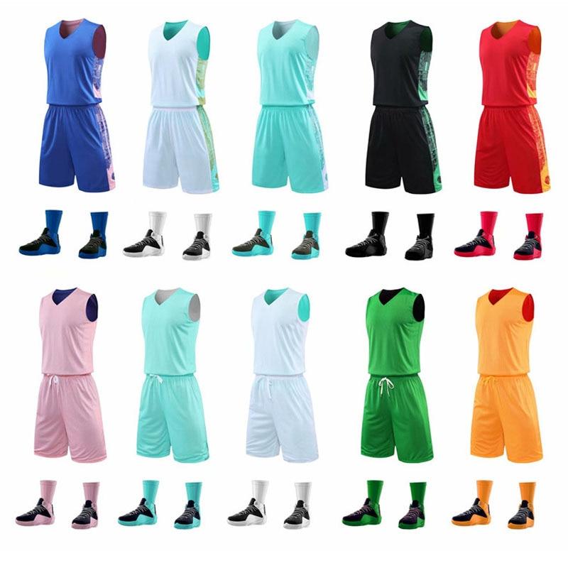 Uniforme da Equipe de Basquete sem Mangas Agasalho para as Mulheres dos Homens Shorts de Basquete em Branco Terno de Treinamento Camisa Esportivo Personalizado & Mod. 175575