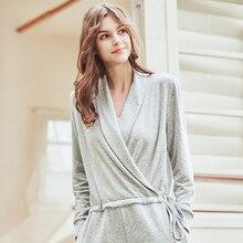 High Quality Pajama Onesie Women 76% Cotton Sleepwear Solid Grey Long Pijamas Home Outdoor Wear  Jumpsuit Pyjamas for Adult Lady