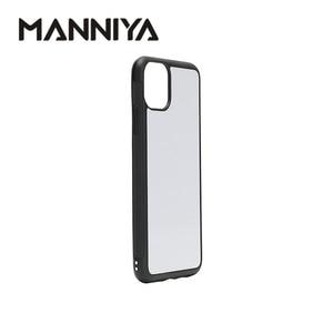 Image 3 - MANNIYA funda de teléfono de goma para iphone 11/11 Pro/11 Pro Max, sublimación en blanco, TPU + PC, con insertos de aluminio, 10 unids/lote