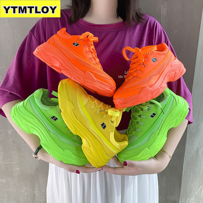 New 2019 Fashion Women Casual Shoes Suede Leather Platform Sneakers Ladies White Trainers Chaussure Femme  Sexemara  Summer