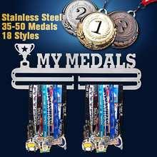 Colgador de medallas de Metal y acero para deportes, colgador de medallas de 12 estilos, colgador de exhibición para correr, natación, gimnasio, regalo de decoración para el hogar