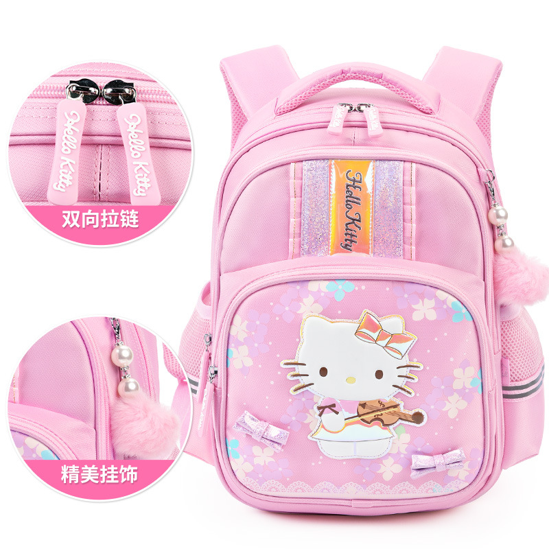 Hellokitty School Bag Young STUDENT'S Girls 1-3 First Grade 6-10-Year-Old GIRL'S Children Spine-Backpack 2