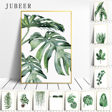 Paintings Decorative-Picture Tropical-Plants-Poster Wall-Art Scandinavian-Style Living-Room