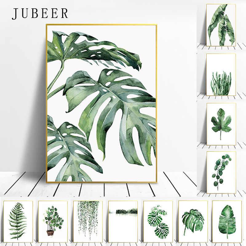Скандинавский стиль тропический плакат растений зеленые листья декоративная картина Современные настенные художественные картины для гостиной домашний декор