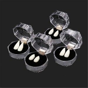 Поддельные клыки вампира с клеем для ремонта зубов на Хэллоуин и зазоров, твердые зубные протезы, клей для зубных протезов, клыки с клеем