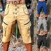 WEPBEL Men Fashion Pocket Pants Casual Loose Zipper Sports R