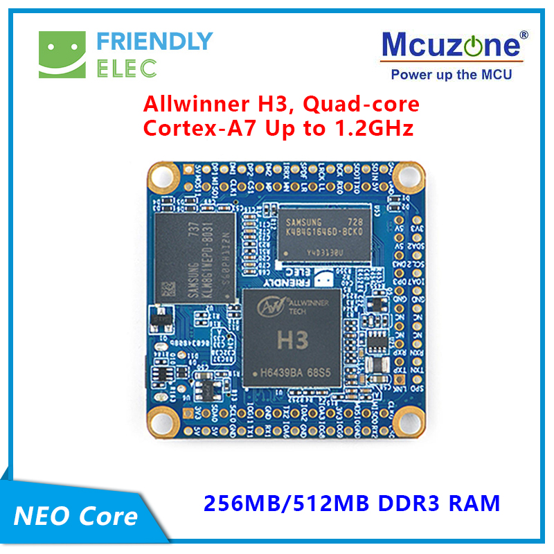 FriendlyELEC NanoPi NEO Core 256MB/512MB Allwinner H3, Quad-core Cortex-A7 UbuntuCore With Mainline Kernel 4.x.y