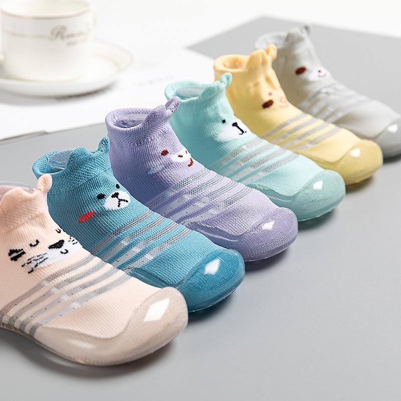 Children Anti-slip Shoes Newborn Baby Girl Cotton Non-slip Floor Socks Baby Boy Rubber Sole Cartoon Indoor Socks Infant Shoes 5