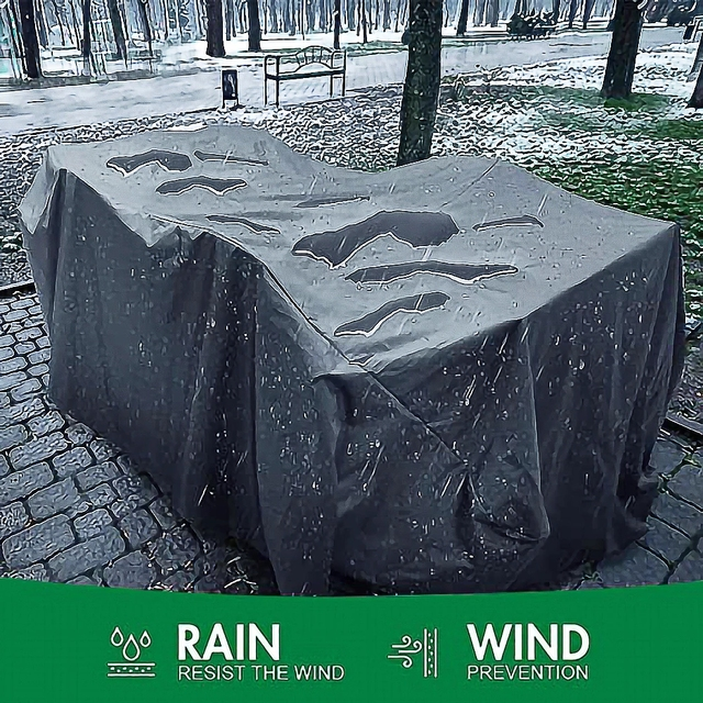 72 Sizes Outdoor Patio Garden Black Furniture Waterproof Covers Rain Snow Chair covers Sofa Table Chair Dust Proof Cover 2