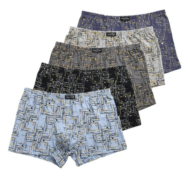 4 pz/lotto intimo maschile pantaloni Boxer in cotone da uomo stampa giovanile grasso sciolto 110KG Boxer Mailbag
