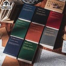 Sr. papel 100 pces/livro 8 projetos vintage estilo retro escritores famosos e pequenos livros série criativa mão conta deco diy material