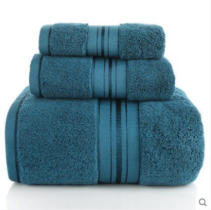 Serviette de bain serviette ensemble trois pièces ménage coton doux absorbant grand épais adulte hommes et femmes serviette enveloppée