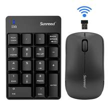 18 Keys Keyboard With 2.4G Mini Wireless Mouse USB Numeric Keyboard Mouse Set For Computer Office Accessories(China)