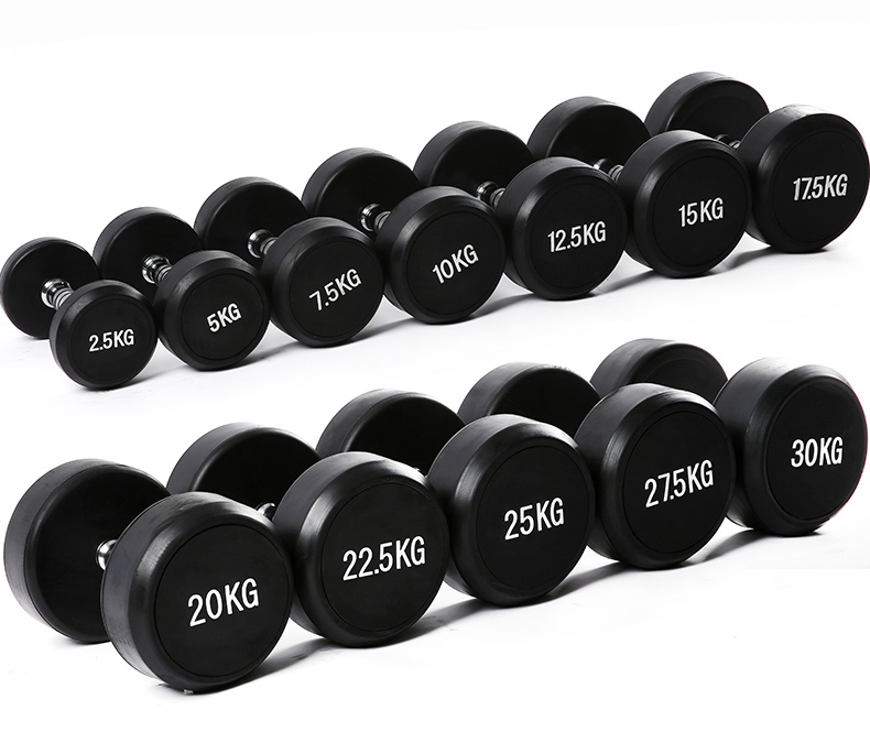 5kgx2pcs Rubber Fixed Dumbbell Female Pair Of Rubber Coated Dumbbell Men's Exercise Arm Muscle Fitness Equipment Home