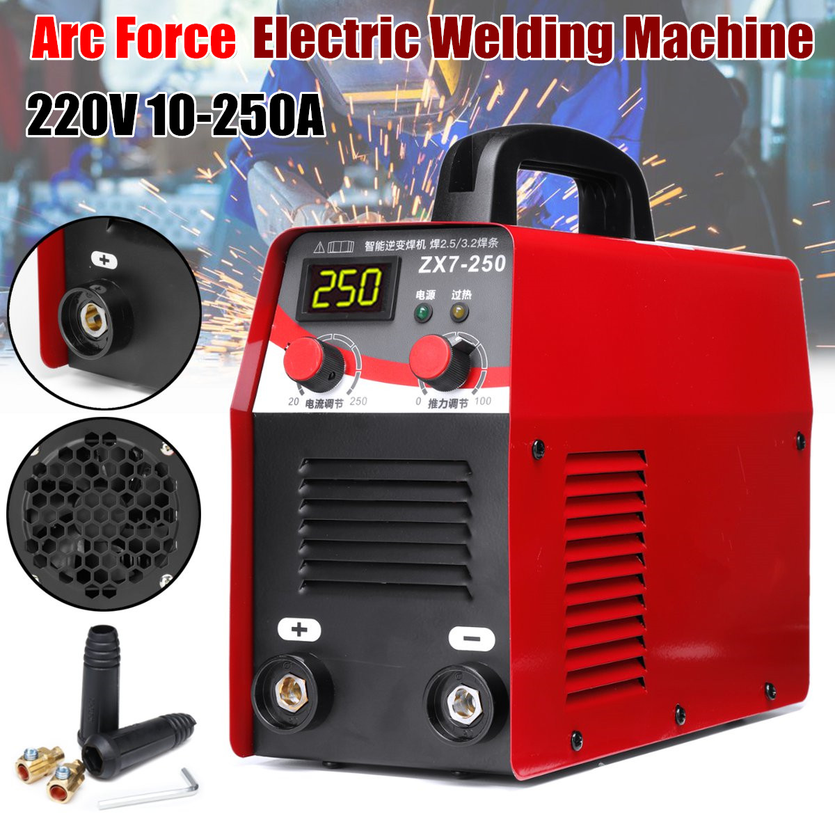 Tools : 110V-560V 9 5KW 11 5KW ZX7-250 ZX7-315 Arc Force Electric Welding Machine Mini Pro LCD Digital Display MMA IGBT Inverter Welders