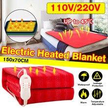 150x70 см 110 V/220 V эффективный зимняя Электрический Одеяло нагреватель одной грелка для тела Термостат Электрическое отопление Одеяло коврик с подогревом