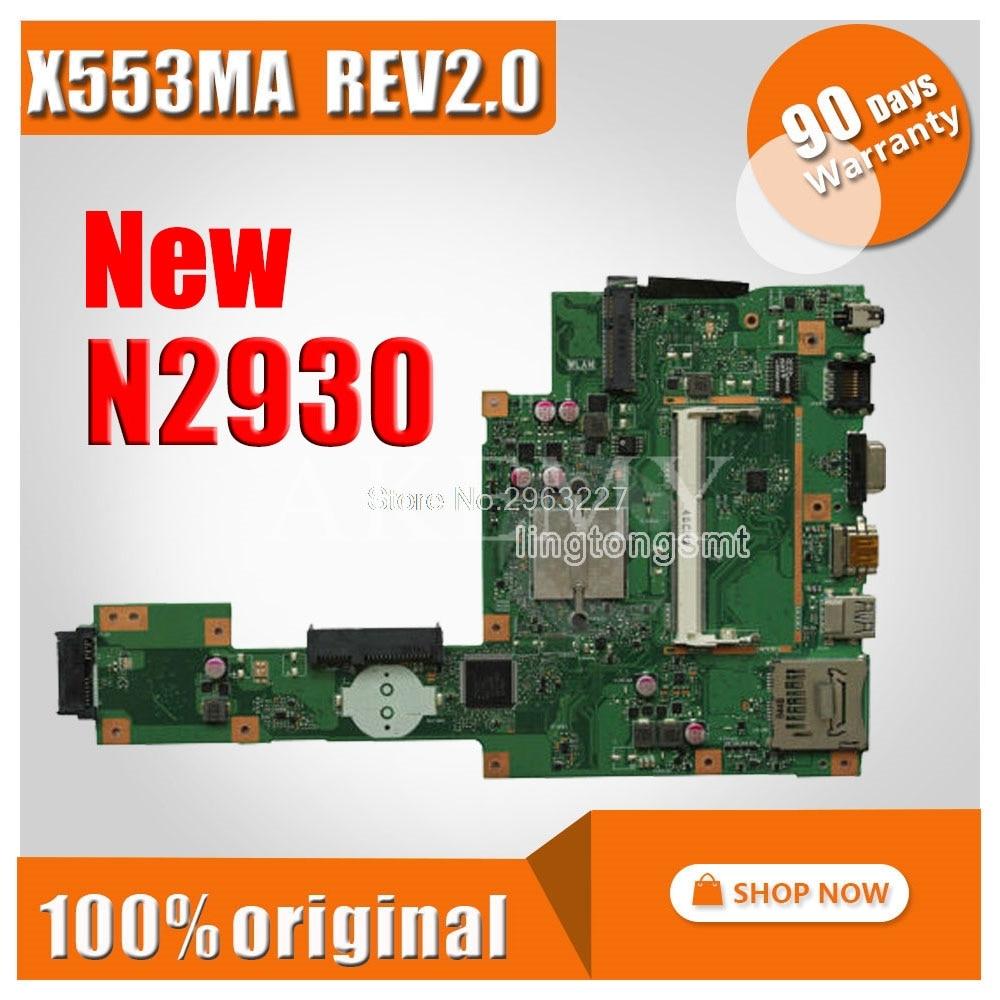 Nouveau! Avec N2930 4 cœurs X553MA carte mère REV2.0 pour ASUS D553M F553M X503M carte mère d'ordinateur portable X553MA carte mère morherborad