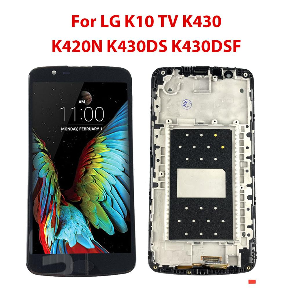 AMOLED For <font><b>LG</b></font> <font><b>K10</b></font> TV K430 LCD <font><b>Display</b></font> with Touch Screen Digitizer For <font><b>LG</b></font> LTE K430DS K420N K430DSF with frame Assembly <font><b>K10</b></font> TV image