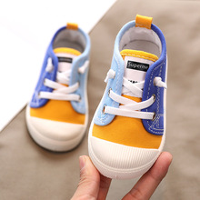 Baby Shoes Soft Bottom Boy Casual Shoes 2-8 Years Old 2021 Autumn Children Canvas Shoes Kids Girls Walking Shoes Toddler