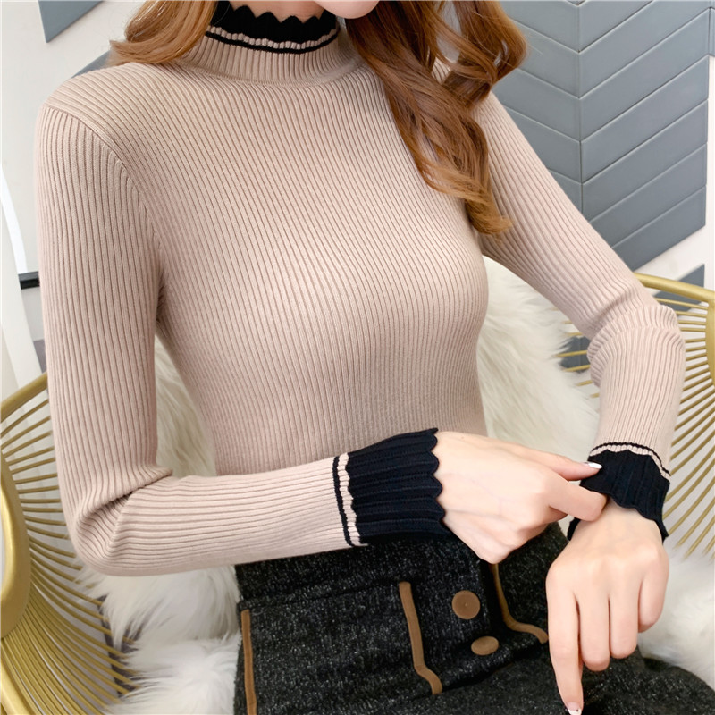 2019 Sweater Women 9480 To Film The New Collar Sweater Render Unlined Upper Garment Of Cultivate Morality, 34, 1 / F, 2 Row 3