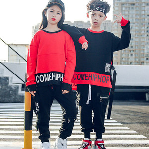 Image 1 - Spring 2019 baby clothes for boys Long Sleeve childrens costume for Baby Boys girls hip hop Jazz Dance Costume t shirt for kids