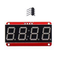 LEORY 1 قطعة 4 بت 0.56 بوصة 7 الجزء LED وحدة أنبوب الرقمية I2C التحكم 2 line التحكم HT16K33 LED وحدة عرض