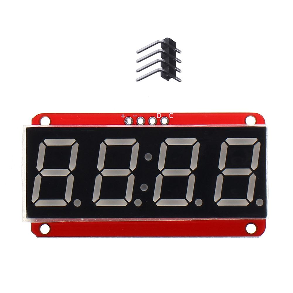 LEORY 1PCS 4-bit 0.56 Inch 7-segment LED Digital Tube Module I2C Control 2-line Control HT16K33 LED Display Module