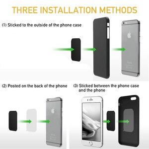 5pcs магнетический металлической пластиной для необходимого вам Автомобильный держатель для телефона на магните Универсальный листового железа диск стикер крепление Мобильный телефон магнит подставка для IPhone 12 X